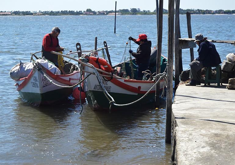 Trabalhando no barco